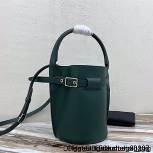 2020 Classic Ladies Soft Grain Calfskin Bucket Bag Silver Metal Cross-body and Portable Detachable Leather Strap