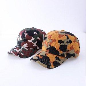 Camuflagem impressão Chapéus Criss Cross-cavalo Baseball Cap malha Washed Cap Bola Moda Camouflage alta desarrumado Hat chapéus de festa OWC3759