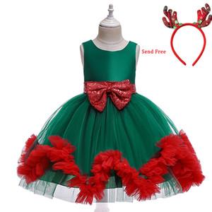 New Christmas Dress For 2 3 4 5 6 7 8 Years Girls Kids Dresses Princess Costume Dress Children Evening Party Dress Girl Clothing Z1127