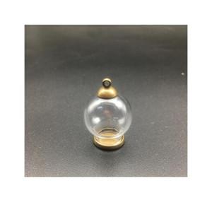 1set 20*12mm Hollow Glass Globe With Setting Base Beads Cap Set Orb Glass Vials Pendant Glass Bottle Jewelry Pendant 1 bbyXTf