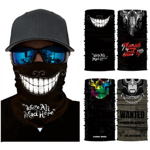 Skull Magic Scarf Motorcycle Hiking Bandana Half Face Mask 25*50cm Headband Turban Ski Cycling Mask CYZ2912