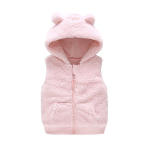 Vlinder winter girl boy hooded vest baby Cotton Snug waistcoat 0-3years Infant clothes 201110