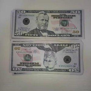 50 US dollar best sales Most Realistic Prop Pretend Movie Money Paper copy banknote prop money 100pcs pack