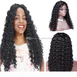 Stocking Human Hair Wigs Haute Qualité 1B Curly Cheveux Indian Virgin Full Dentelle Perruque Livraison Gratuite