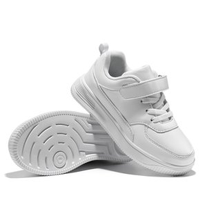 Casual Kids Waterproof Sneakers White Flats Antislip Girls Trainers Classic Fashion Children Leather Shoes 201203