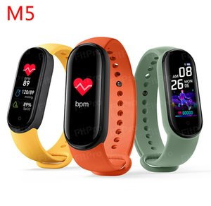 New Fashion ! Band 5 Smart Wristband 5 Color Heart Rate Fitness Tracker Bluetooth Sport Bracelet AMOLED Screen band 5 Dropship FY8155