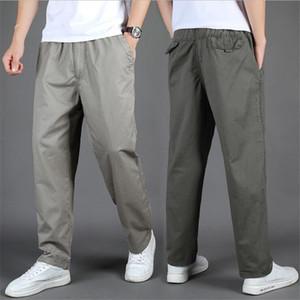 Men Casual Pants 2020 Spring Summer Cotton Pants Men Oversize Elastic Waist Trousers Men Loose Casual pants Cloth Large Size 6XL Z1126
