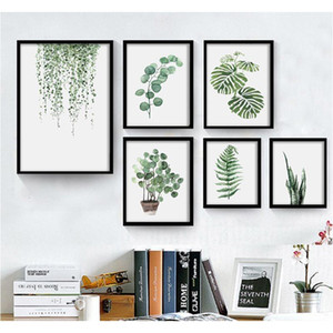Green Plant Digital Painting Modern Decorated Picture Framed Painting Fashion Art Painted Hotel Sofa Wall Decoration Dr jllKxy eatout