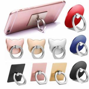 7 desenhos logotipo personalizado universal telefone celular titular titular de anel de 360 graus de aderência do telefone móvel suporte de fivela preguiçoso com bolsa de ouro DHL