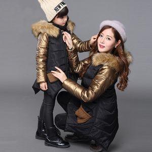 Jacket for Vangull Korean Popular Down Coats Girl Fur Collar Girls Winter Coat Children's Parkas