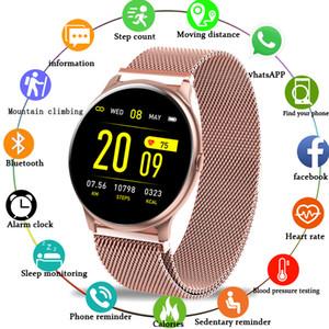 LIGE 2020 New Color Screen Smart Watch Women men Multifunctional Sport Heart Rate Blood Pressure IP67 Waterproof Smartwatch+Box LJ201202
