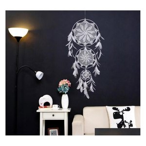 dreamcatcher wind chimes handmade nordic dream catcher net with feathers 130 cm wall hanging dreamcatcher craft gift home decoration DSwyG