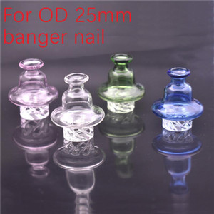 wholesale Glass Bubble Carb Cap, US carb cap, Cyclone Spinning carb caps for 25mm quartz banger Nails terp pearl dab oil bong cheapest