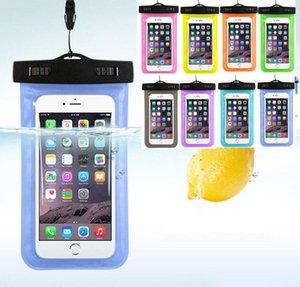 حقيبة مختومة للماء الحقيبة PVC مضيئة الهاتف دليل برهان للهاتف 11 زائد سام سونغ ga laxy