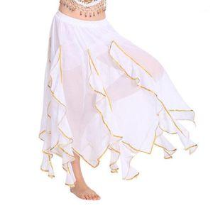 Missky Women Skyt Skirt Chiffon Expansion Scipanion для практики танцевальной практики живота1