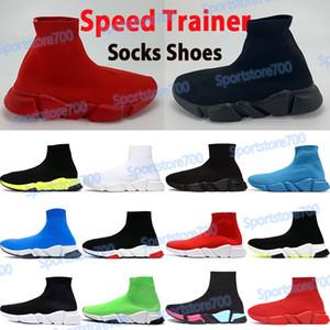 Çorap Ayakkabı Hız Trainer Erkek Kadın Açık Ayakkabı Sneakers Siyah Beyaz Yeşil Kraliyet Üçlü Kırmızı Bej 2019 Erkek Koşu Chaussures Top Boot