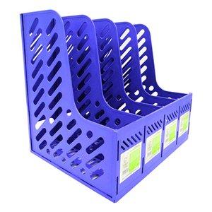 Fabricante de quatro - arquivo de prateleira ligação cesta de arquivo em preto de plástico azul arquivo de material de escritório bar prateleira do desktop direta 003