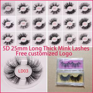 New Long Dramatic Mink Lashes 3D Mink Eyelash 5D 25mm Long Thick Mink Lashes Handmade False Eyelash Eye Makeup Maquiagem LD Series 15 Styles