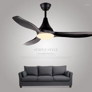 black 48 inch ceiling fan fans with lights remote control ceeling ventilator lamp bedroom decor modern Silent Motor Home Fixture1