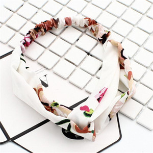 Iloveiy femmes turban torsadée chiffon floral bandeau floral filles élastiques filles fleur bande bande bijoux q sqcdtk