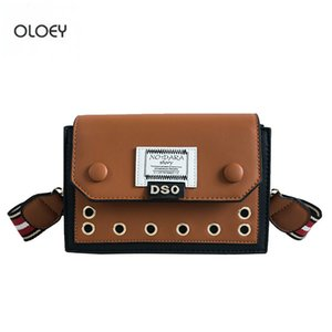OLOEY New creux épaule large sangle Tide femmes Messenger fashion girl simple petit sac carré Q1118