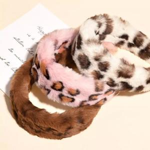 Twinklei Winter Leopard Rabbit Faux Pelz Haarbänder Frauen Plüsch Weiche Kopfwarp Mädchen Haarfassung Haarschmuck Stirnband