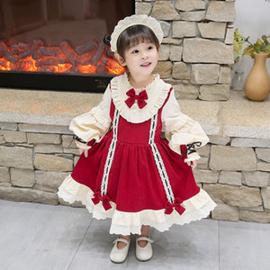 Christmas Lolita Princess Girl Dress Kids Baby Autumn Winter Kawaii Cute Wedding Dress Girl Ball Gown 2020 Bow Party Vestidos