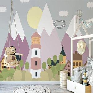 Custom 3D Wallpaper Murals Cartoon Landscape Children Room Kindergarten Mural Princess Room Bedroom Background Photo Wall Paper