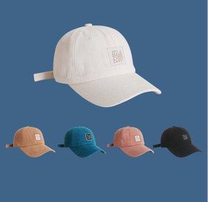 Sombrero Unisex, Simple y Versátil 2021 Nuevo estilo de algodón moda Tendencia de béisbol Cap de protector solar Cap de la sombrilla