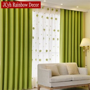 Solid Blackout Curtain For Bedroom Green Kids Curtain For Living Room Kitchen Window Curtain Fabric Blind Drapes Cortinas LJ201224
