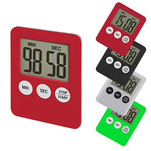 LED Digital Kitchen Timer Plastic Cooking Count Up Countdown Clock Magnet Alarm Electronic Cooking Tools 10 Colors