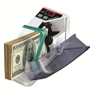 Mini Geld Währungszählmaschine Handliche Bill Cash Banknote Counter Money AC oder Batterie angetrieben für gefälschte Gelddollar EU US UK