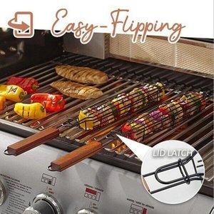Гриль корзина барбекю гриль сетки корзина еда Выпечка Блюдо шейкер Hander Longer Litespan Открытая Кухня Кулинария Инструменты DHC3748