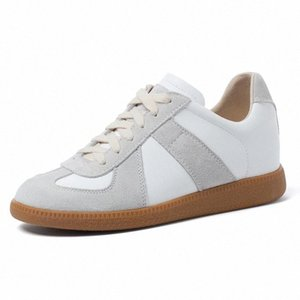 Smallhut Leder Retro Turnschuhe Frauen Frühling Herbst Damen Casual Schuhe G268 Wildleder Lace Up Sneakers Wedges Weiße Aprikosenwohnungen # DD1D