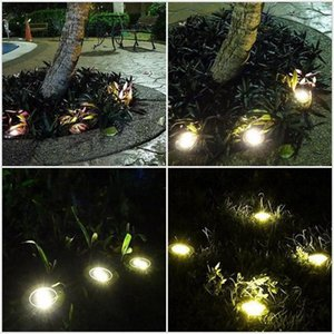 Solar Powered Ground Light 8 LED Landscape Lawn Light Waterproof Outdoor Lighting for Path Garden Lawn Landscape Decoration Lamp RRC2111