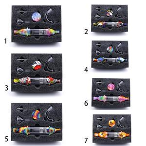 Collecteur de silicium DAB paille avec tabagisme Pièces de fixation en verre Bongs Accessoires Connecteur Conteneur de silicium DAB Tool Kits
