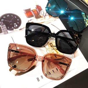 선글라스 빈티지 광장 편광 여성 디자이너 복고풍 선글라스 그라디언트 렌즈 태양 안경 사각형 음영 FML