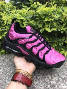 2018 NUEVO Max vapormax TN Plus Olive In Metallic White Silver Colorways Zapatos Hombre Mujer Casual Pack Triple Black aires Zapatos