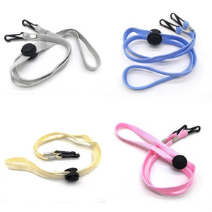 Face Mask Lanyards Adjustable Mask Strap with Clips 65cm Child Adult Anti-lost Mask Leash Pink Blue Black FWA2580