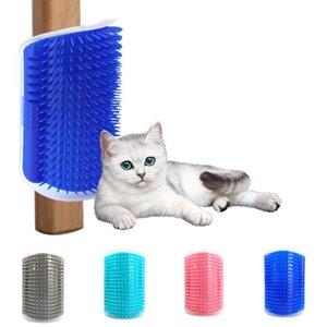 Угловой домашний кисть гребень Играть игрушечный пластиковый царапин щетины arch massager самого уход за точкой для ухаживания кошка EWD3324