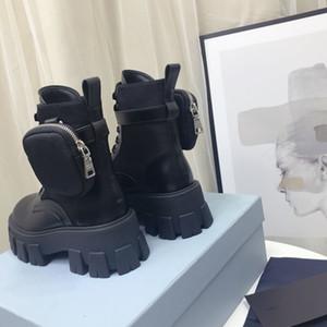 2020 여성 디자이너 Rois 부츠 발목 나일론 전투 부츠와 마틴 부츠 디자이너 겨울 마틴 발목 나일론 베워 첨부 발목 상자