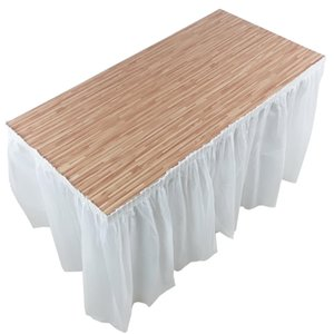 420x70cm 1pcs Peva Disposable Birthday Wedding Party Table Skirt Plastic Table Cover For Baby Shower Home Festival Decoration jllZWt