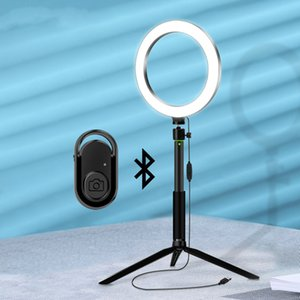 LED Vdieo Selfie Ringlight for Phone Tripod Ring Makeup with Photographic Stick with Remote Selfie Light Lamp Bluetooth Lighting Jsmiw