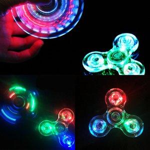 Light Fidget New Led Stress Hand Spinners Glow in the Dark Figet Spiner Edc Anti-stress Finger Spinner GK9F