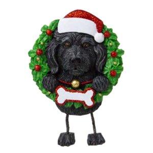 DHL 2020 Прекрасные собаки DIY Название Сообщение Подвеска Рождественские Украшения ПВХ PET Собака Кулон Новая Рождественская елка Подвесной орнамент GWC4590