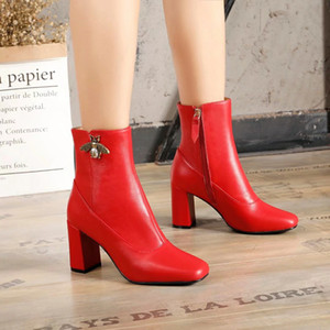 the lastest Fashion Luxury 80 ss Boots Womens Shoes Brand Half Ankle Boot Lady Designerss Genuine Leather Dress Boots Casual Martin boots