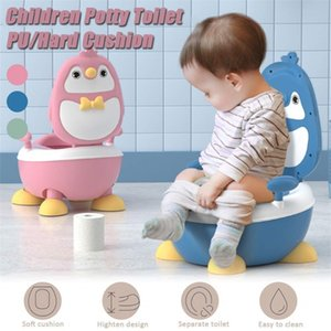 Baby Boy Children's Pot Cute Penguin Ajustable Height Baby Potty Training Seat Portable Toilet for Babies Girls Infantil LJ201110