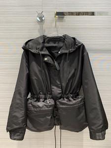 Milan Runway Coats 2020 Capucha de manga larga para mujer Abrigos de mujer Abrigos de diseño Marca MISMO ESTILO Jackets 0919-2