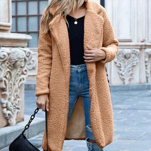 Winter Long Teddy Coat Women Faux Fur Coat Female Plus Size Warm Women Winter Coats Fur Jacket Female Plush Overcoat Outwear