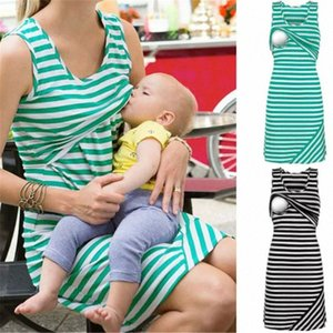 Women Summer Maternity Breastfeeding and Nursing longuette Tops Dress S-XL #6T7t